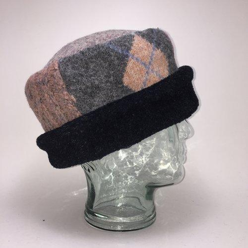 50b9b33906b One of a Kind Pillbox Hat 105 — Baabaazuzu Upcycled Wool Clothing