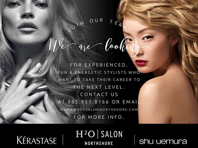 Join our TEAM! We are looking for EXPERIENCED, FUN & ENERGETIC Stylists! #H2OSalonNS