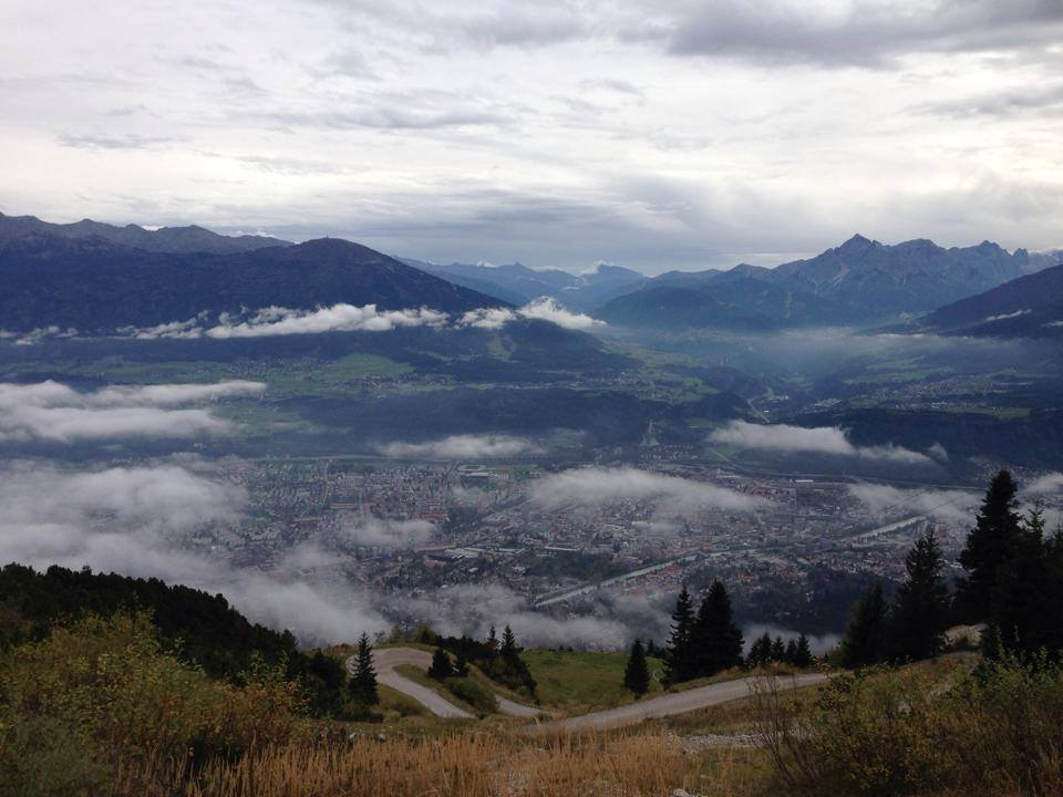 View from Nordkette Mountain in Innsbruck, Austria