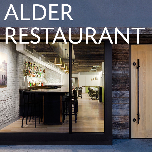 Wylie Dufresne's Alder Restaurant New York City by Jennifer Carpenter Architect