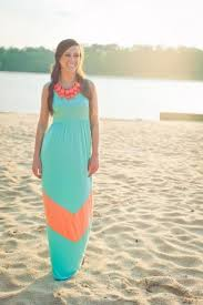 Pretty in turquoise and coral