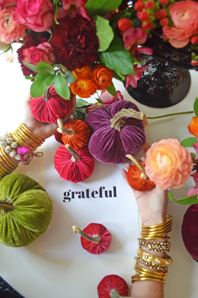 Wishing you all our favorite people a wonderful, happy, safe and delicious Thanksgiving! We are grateful for each and every one of you. Thank you for believing in what we do, and who we are and for joining us in this journey to be more present in our lives for ourselves and for those around us. We are grateful for family and friends, for health, for love, for hope, for inspiration, for glamour, for our journey, for acceptance, for culture and the arts, for curiosity, for introspection, for love....the list goes on and on. What are you grateful for?  [ Gold All Weather Bangles  |  Rajasthani Friendship bracelets  |  Crystal Wrap Bracelet  |  Nine Crystal Bangle ]