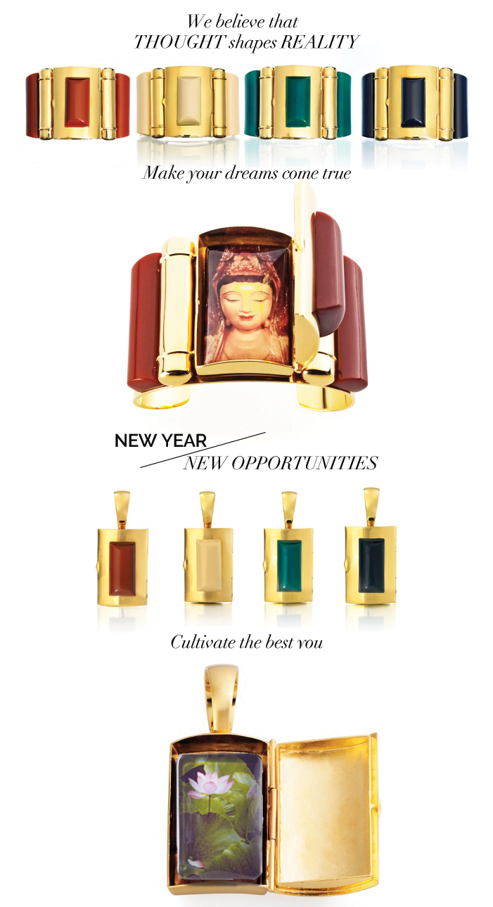 What better New Year's Resolution than to live your life each day with intention. BuDhaGirl makes it easy and glamorous with our  Core Cuff  and  Core Pendant  Collection. Just select your intention from the BDG Reminders™ collection. Slip it into the hidden compartment and then....Go. Be it.   USE CODE:  INTENTION   Offer expires January 5th, 2016