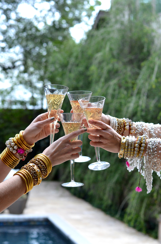 [ Gold All Weather Bangles  |  Rajasthani Friendship Bracelets  |  Nine Crystal Bangle  |  Pearl Bangle ]  Getting ready to receive the New Year is exciting.  The slate is clean, we have a fresh start. We feel we have more freedom to dream our huge dreams and we get excited about how we will achieve them. We plan, we prepare and strategize.  We are full of energy and optimism.