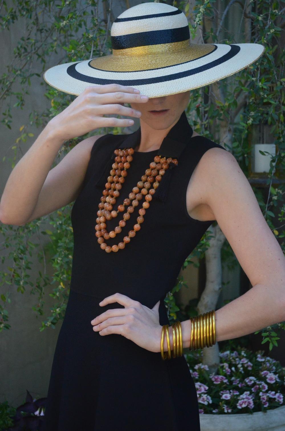 BuDhaBead Bib Necklace in Caramel