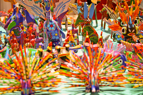 These are Alebrijes, mythical creatures that are part real animal, part dragon.