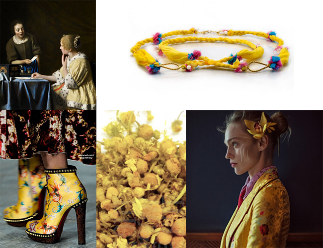 Ottoman Silk in Yellow