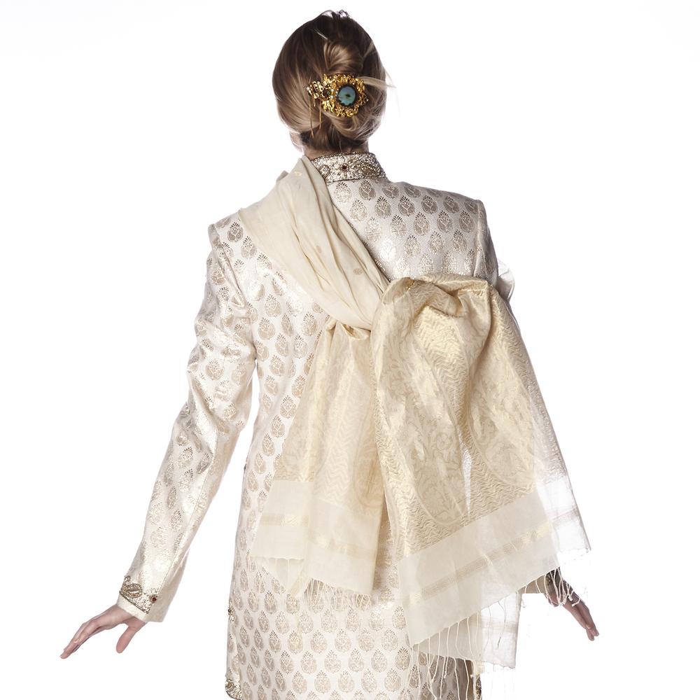 budhagirl diva shawl in ivory