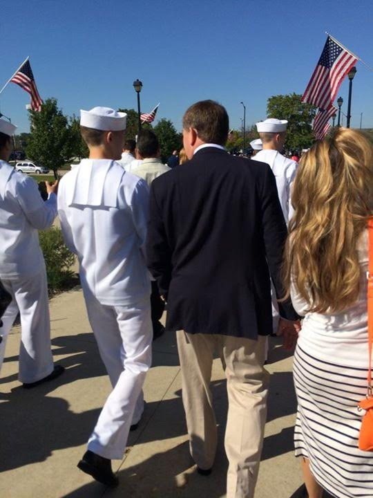 My brother's graduation from Navy Bootcamp, Chicago, 2014
