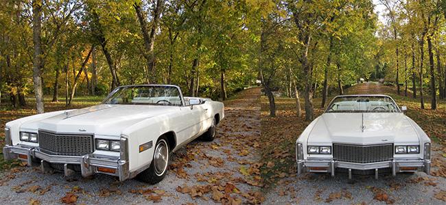 Of all Dad's Cadillacs, this was his favorite: his 1976 Cadillac Eldorado convertible.