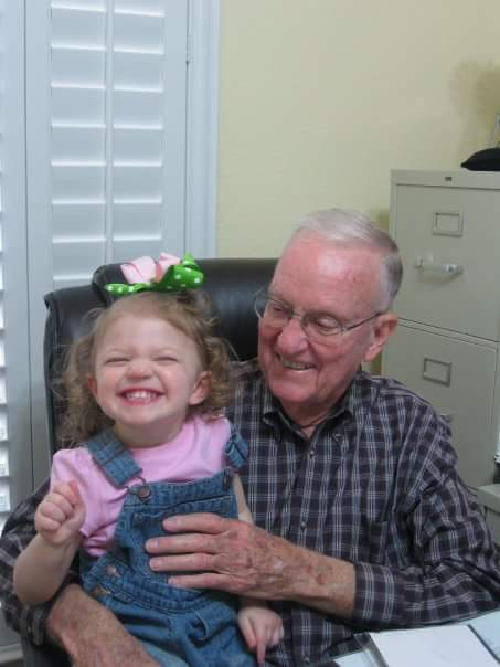 My dad and his great granddaughter, present day.
