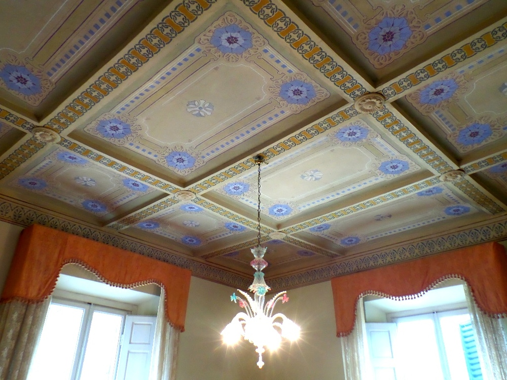 Colorful ceilings.