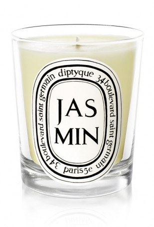 Enjoy a moment of calm with a beautifully fragrant  Jasmine Candle by diptyque .