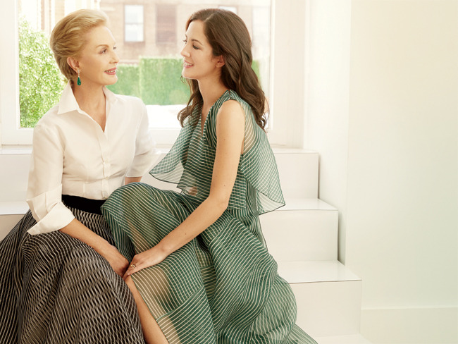 Carolina Herrera and Patricia Lansing