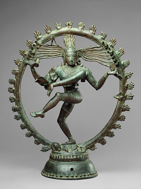 Chola Nataraja encircled by an aureole of flames