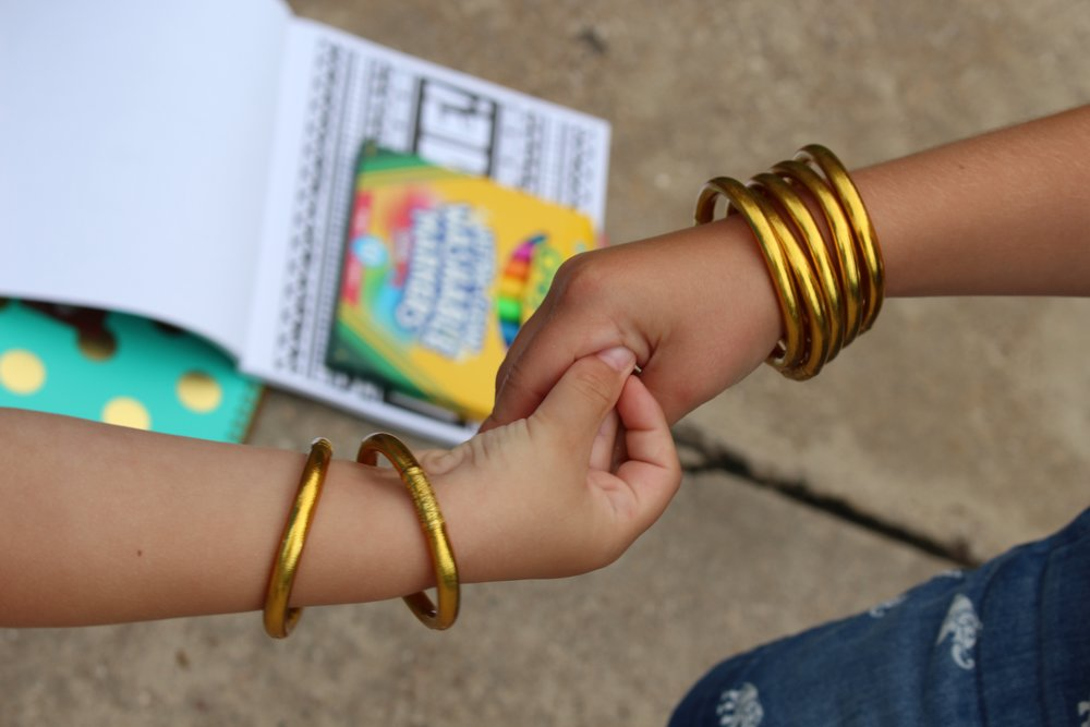 L: Small Baby All Weather Bangles  //  R: Medium Baby All Weather Bangles