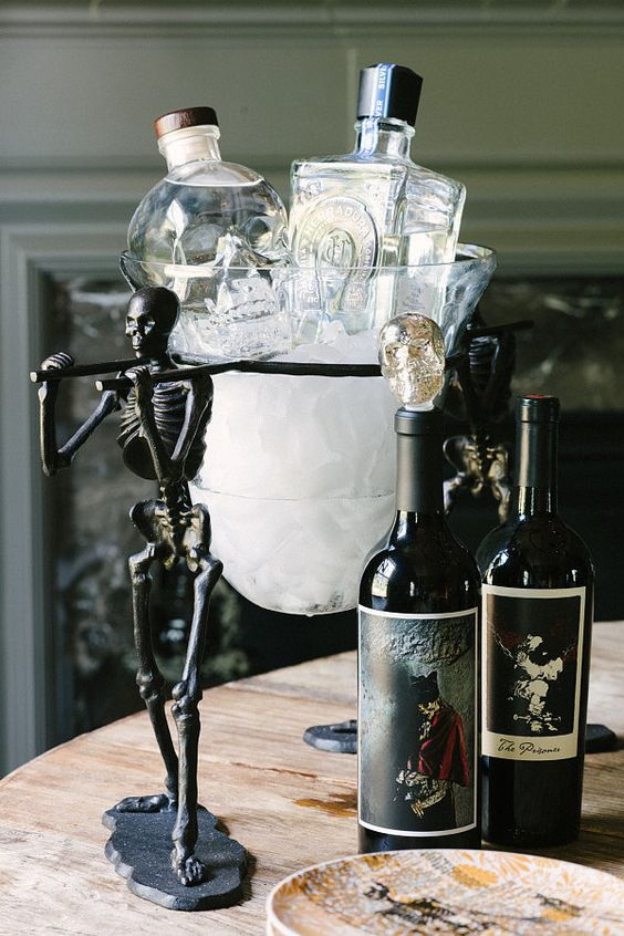 Don't forget a little whimsy at the bar cart!