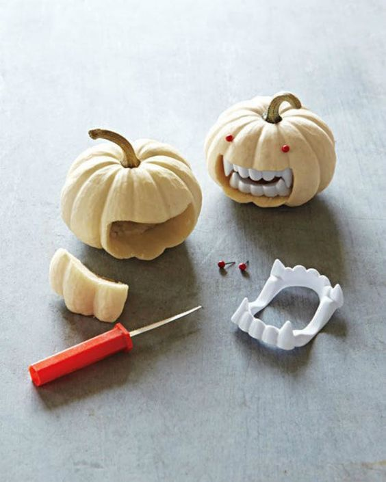 Quick pumpkin crafts will add a little bite to a place setting, bar cart, or lonely corner.