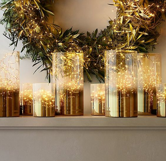 Holiday décor isn't complete without soft, romantic lighting.