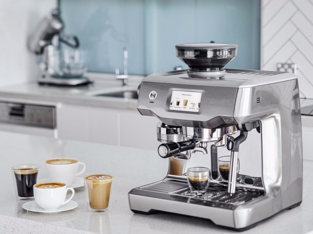 Known as the Ferrari of home coffee makers, the  Greville Oracle Touch  is easy to use, has a beautiful aesthetic, and creates an exquisite espresso that will rival that of your go-to café.