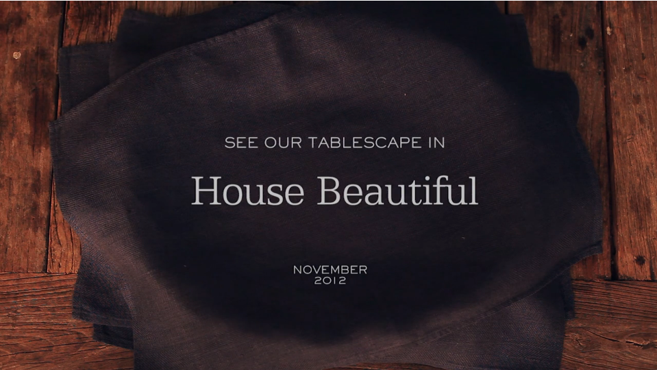Our Tablescape in House Beautiful Magazine