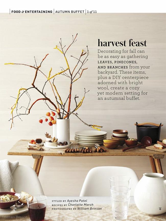 Autumn Buffet with Martha Stewart Living