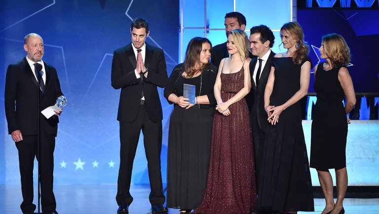 'Spotlight' team takes the winners' stage