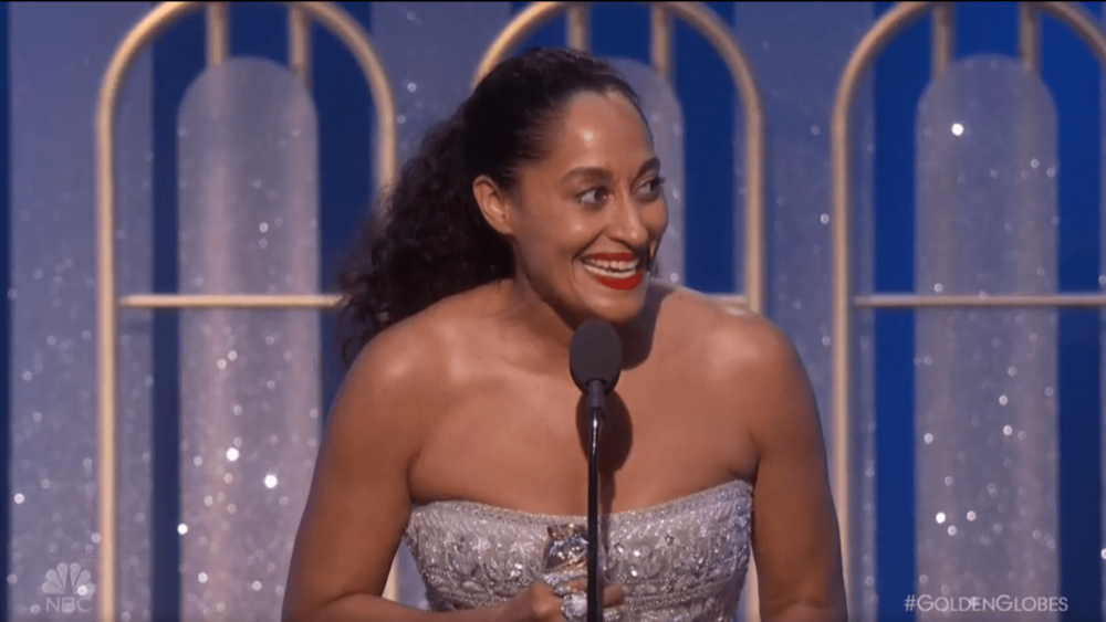'Blackish's Tracee Ellis-Ross becomes the first black woman to win Best Actress in a Comedy Series since 1983