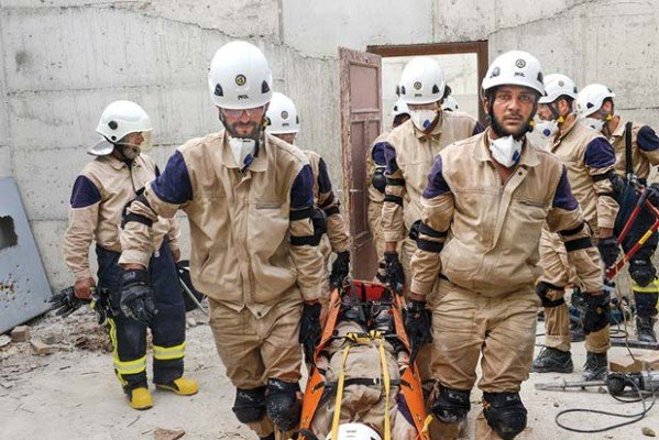 Syrian rescue workers in 'The White Helmets'