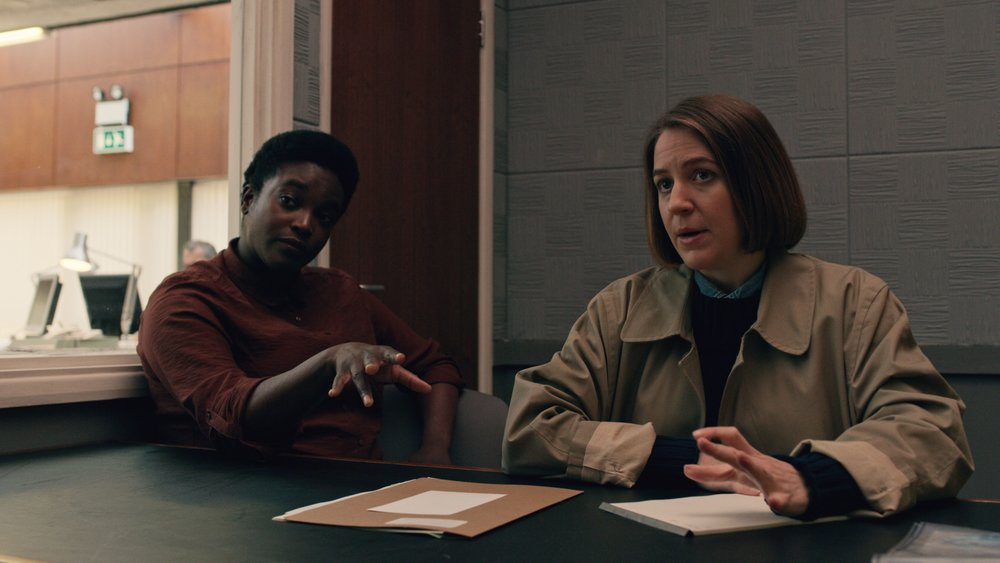 Game of Thrones  fans will recognize Gemma Whelan here as a lesbian cop