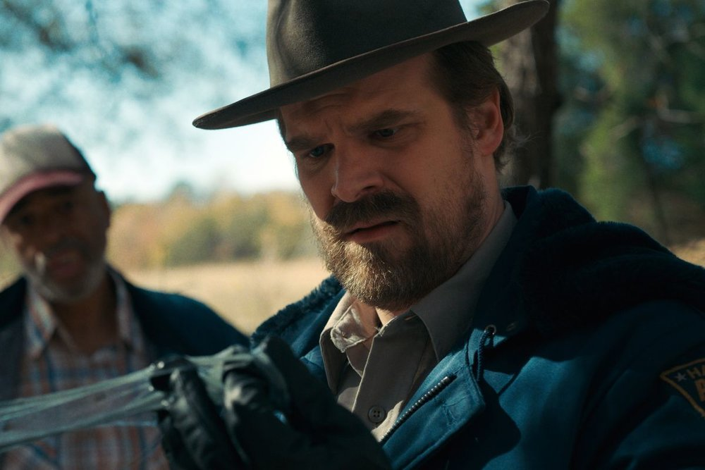 I think David Harbour will win a trophy for Hopper on 'Stranger Things'