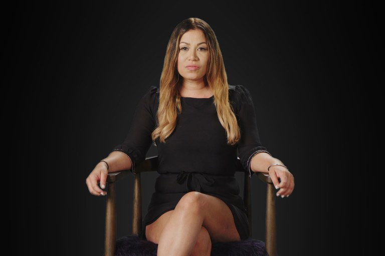 Lizette Martinez, a survivor who met Kelly as a 16 year old