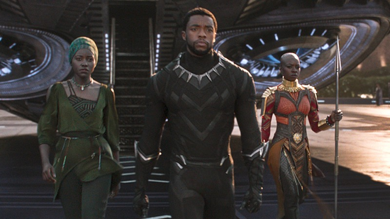 With 7 nominations,  Black Panther  is the first comic book/superhero movie ever nominated for Best Picture, 10 years after  The Dark Knight 's infamous snub