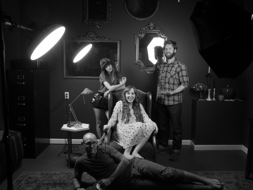 From Left: Hayley Bidez (makeup), Brooke Wagoner (pianist,singer, songwriter, awesomeness) Nick Mcginn (Assistant & fellow photog) and of course, yours truly on the floor.