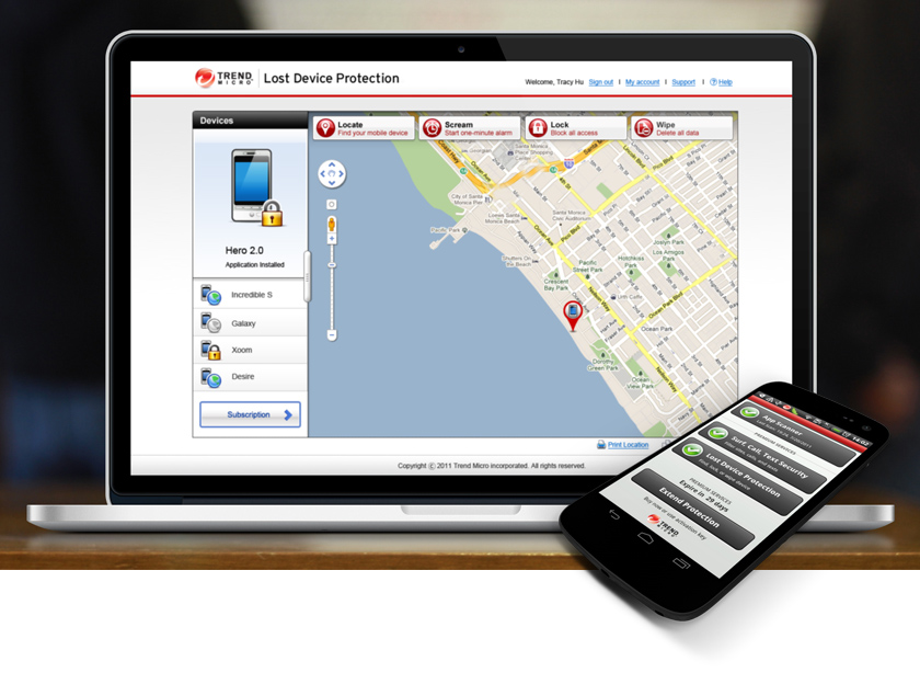 Trend Micro Mobile Security Web Portal & Android App