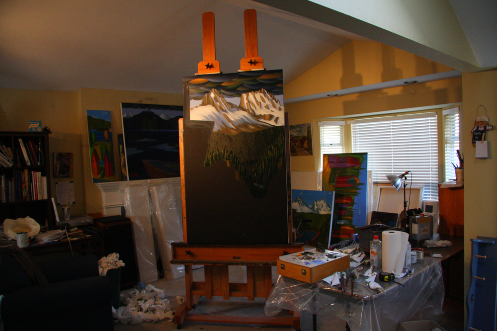 My former living room studio in Coquitlam.