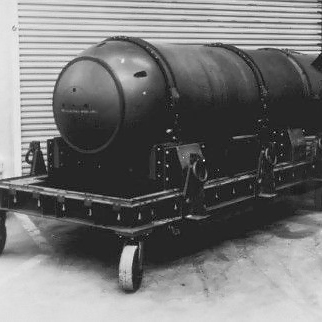 An example of the type and style of nuclear device that was lost.