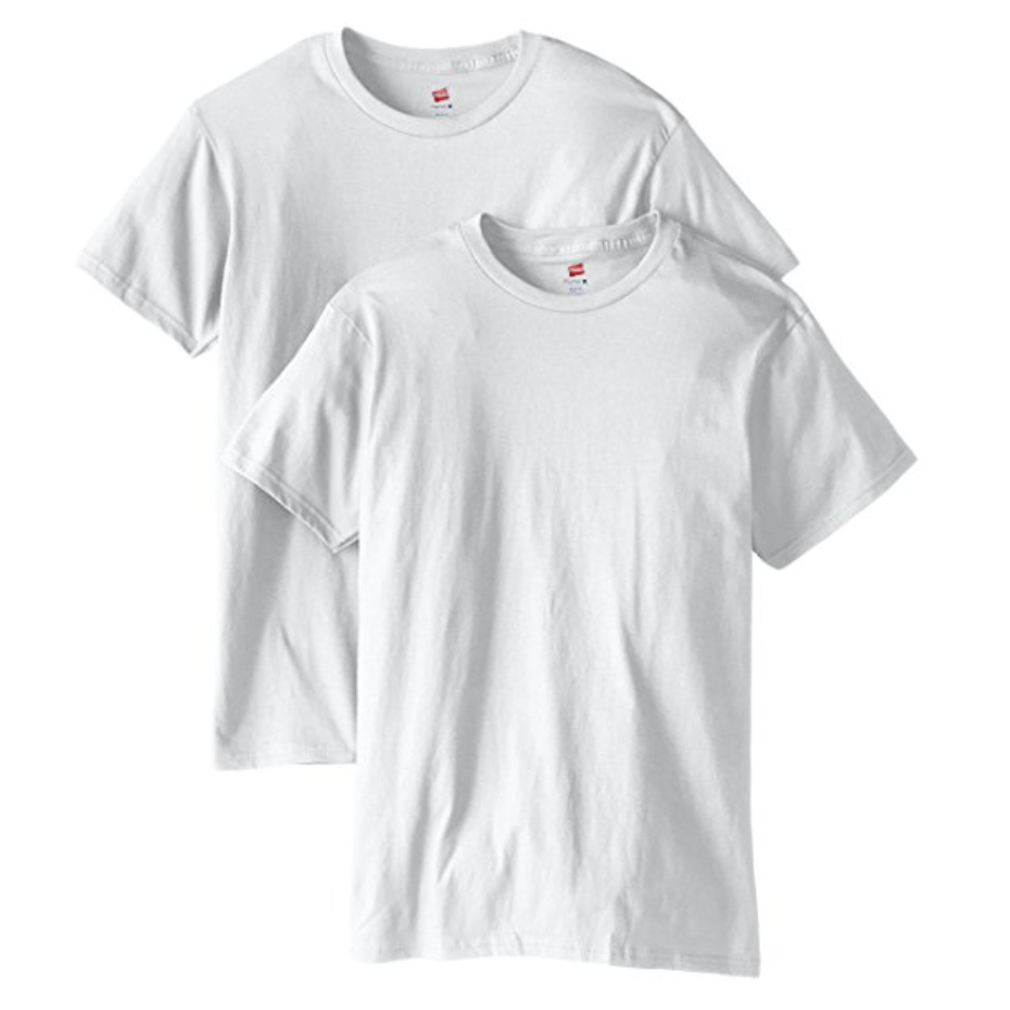 White Tee-Shirts, Crew Neck  Buy on Amazon   Maybe the most versatile item on any fashion list, the plain white tee-shirt is an American classic. There are lots of brands selling them, but I personally think Hanes makes the best plain tee-shirt.