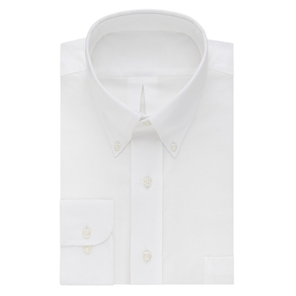 White Oxford Button-Down  Buy on Amazon   The white Oxford button-down is, for social occasions, the equivalent of a white tee-shirt for casual ones. There's never a wrong time to be wearing a white Oxford button-down shirt. Roll up the sleeves in the summer.