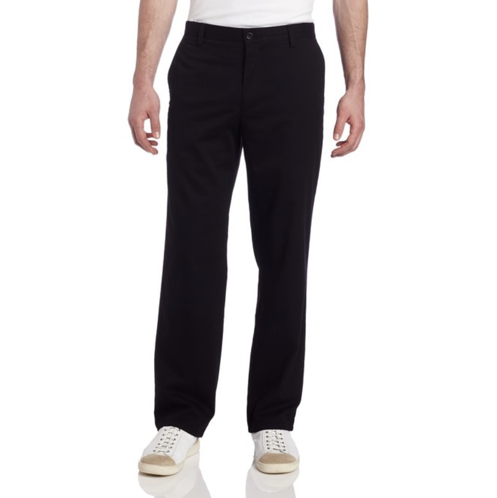 Black Khakis/Chinos  Buy on Amazon   This will traditionally be referred to as a black pair of 'dress pants'. When paired with a suit jacket (which we'll talk about shortly), this is both professional and still comfortable to wear.