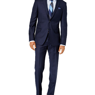 Navy Blue Suit  The other item you'll want to buy in person, you need a navy blue suit. It's good for almost every formal occasion, and a good suit will last you forever. Don't try to buy online -- go to a suit store like JoS A. Bank or Mens Warehouse for your first suit. You can buy brand names when you have more money. A solid suit (or separates) should run you around/under $200. DO NOT BUY A SHINY SUIT.