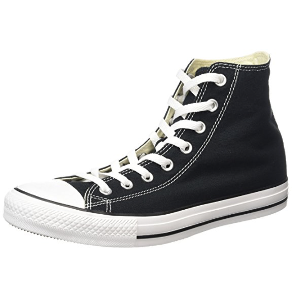 Trainers/Tennis Shoes/Sneakers  Buy on Amazon   Your choice, although I would recommend you keep them relatively simple looking or in simple colors. I like high top canvas shoes, personally.