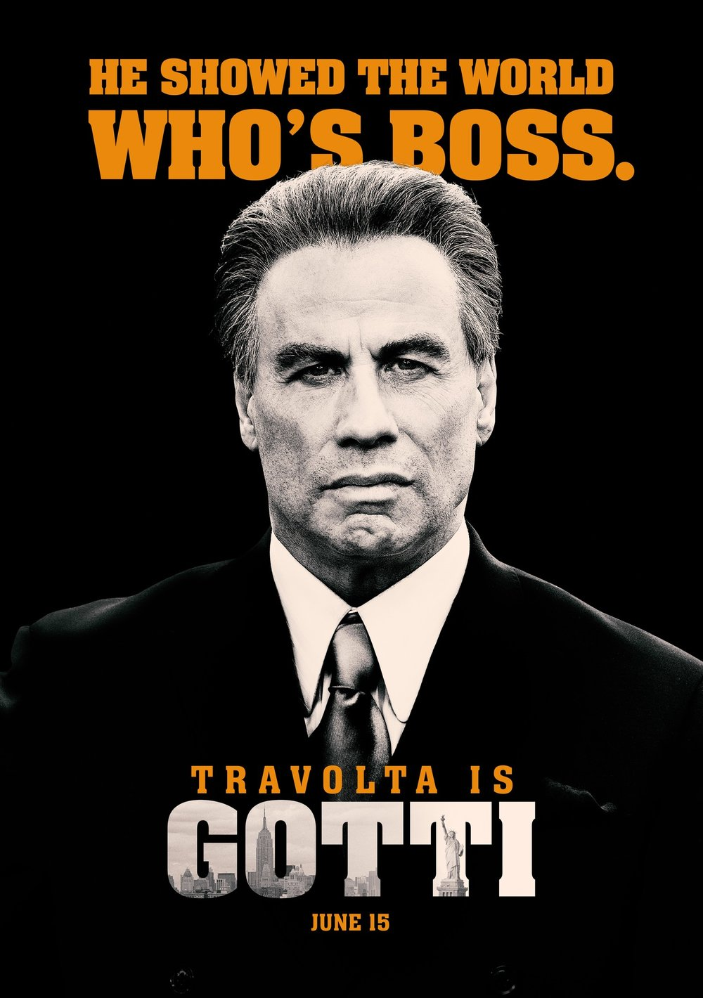 So, so bad. Have you ever seen a movie that went from over-the-top to boring within the span of about thirty seconds? That's Gotti. I saw this movie for free and am still pissed that I saw it. Travolta phones it in with a script that is convinced simply saying the name 'Gotti' is enough to keep audiences interested. It is not. -