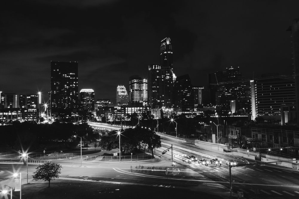 Austin skyline at night.