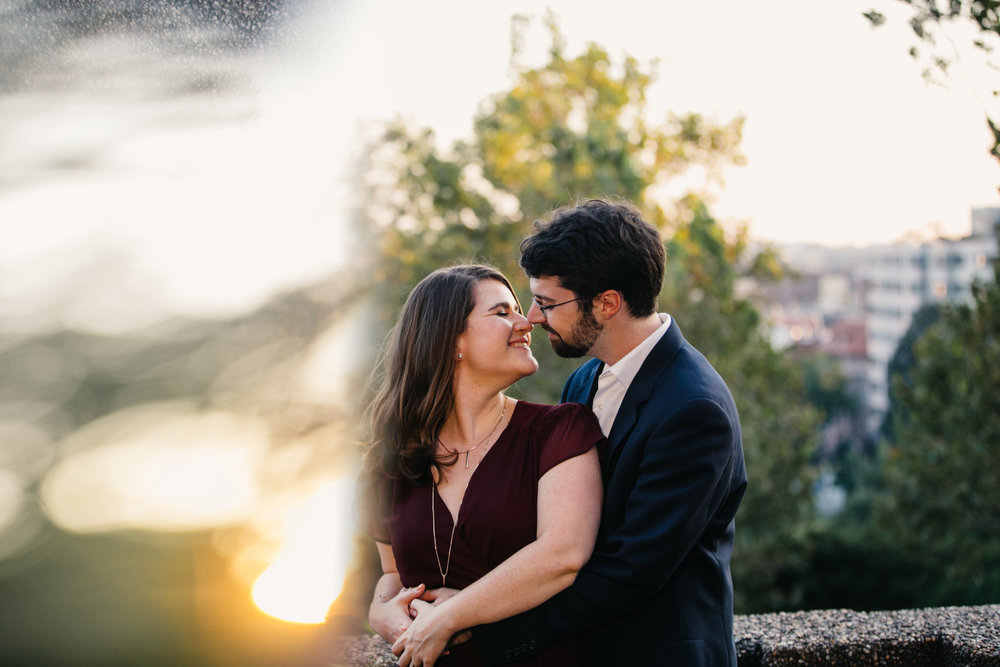 Washington DC Offbeat Engagement Photography