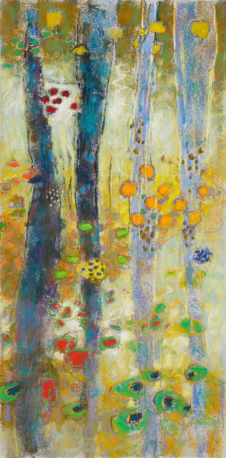 Study For Things Are Relationships   | pastel on paper | 18 x 9"