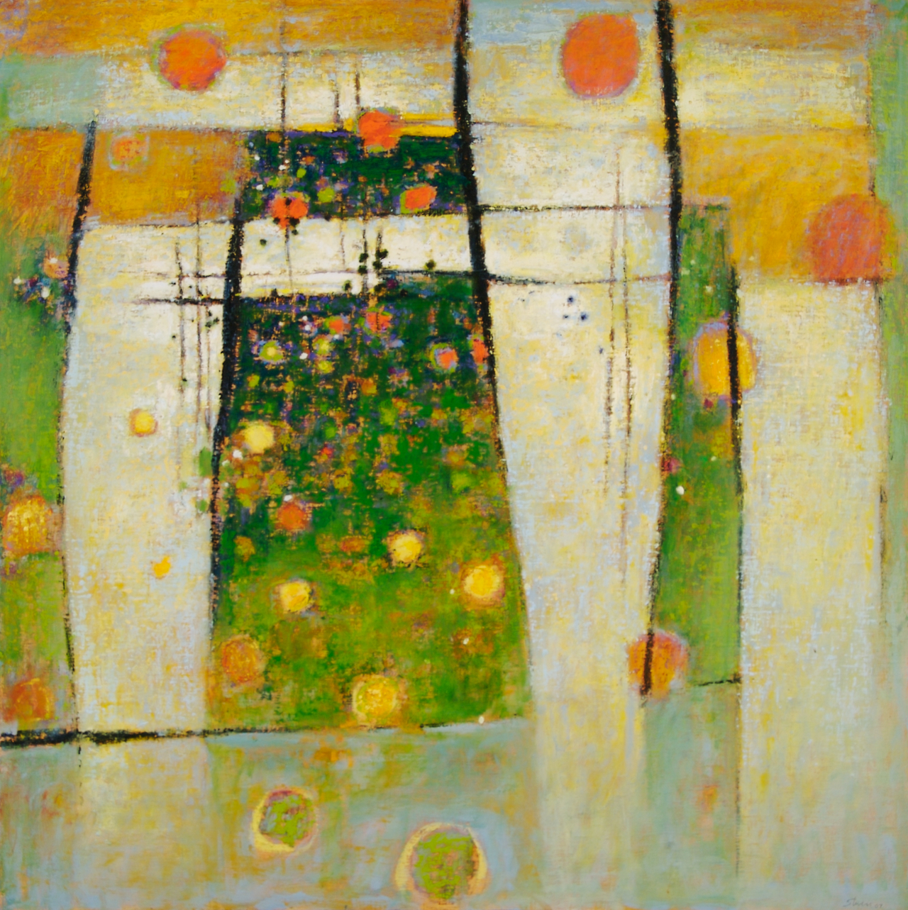 Floating and Dreaming   | oil on canvas | 47 x 47"