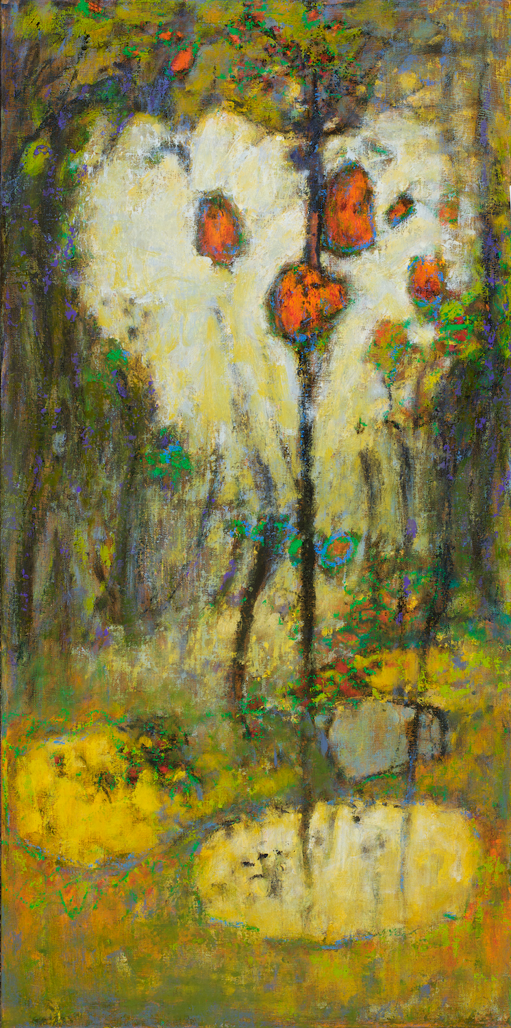 Magical Blooming   | oil on canvas | 32 x 16"