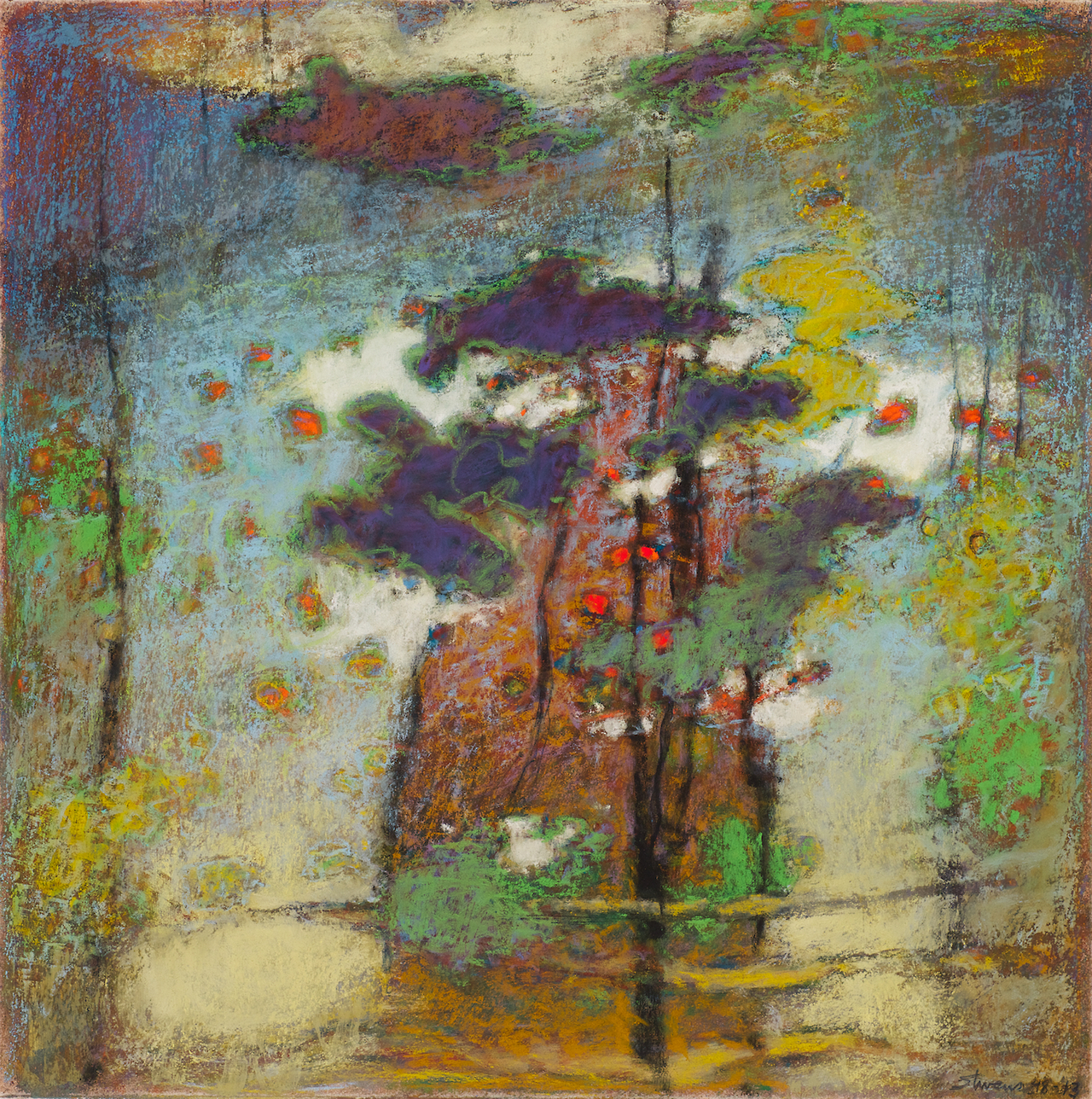 48-13 | pastel on paper | 14 x 14"