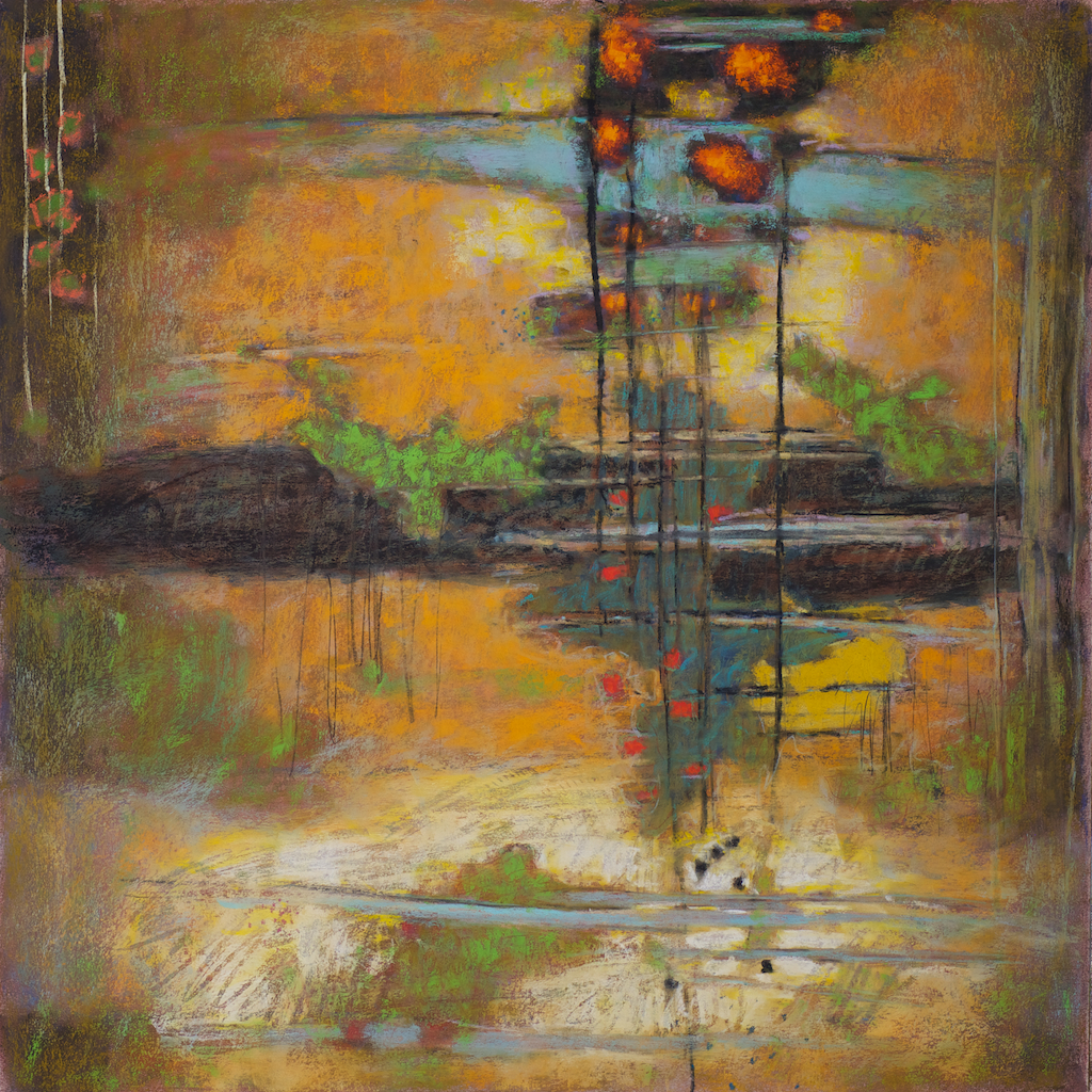 Being There   | pastel on paper | 24 x 24"